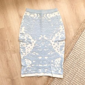 Lucy Paris - Baby Blue & White Skirt